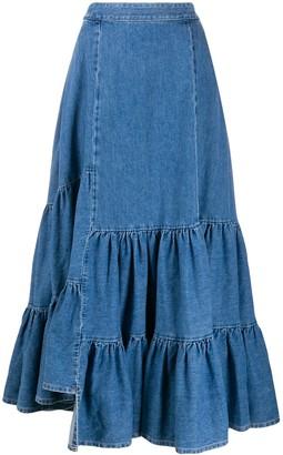MM6 MAISON MARGIELA Denim Maxi Skirt