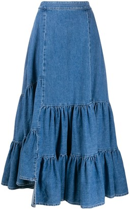 MM6 MAISON MARGIELA denim maxi skirt