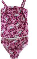 Hello Kitty Sanrio Little Girls Bow Allover Print One Piece Swimsuit