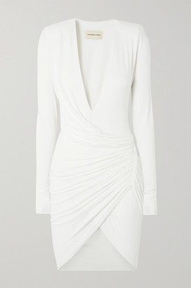 Alexandre Vauthier Ruched Stretch-jersey Mini Dress - White