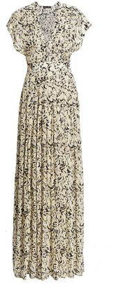 Proenza Schouler Printed Chiffon Maxi Dress