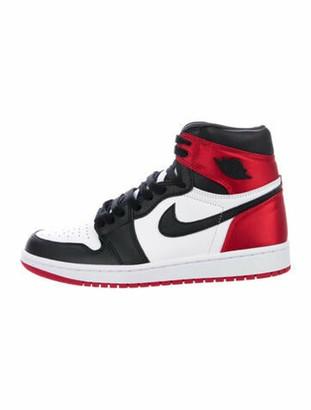 Jordan 1 Retro High Satin Black Toe Sneakers w/ Tags Black