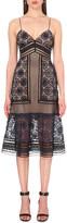 Self-Portrait Strappy lace midi dress