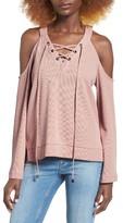 J.o.a. Women's Cold Shoulder Cotton Top
