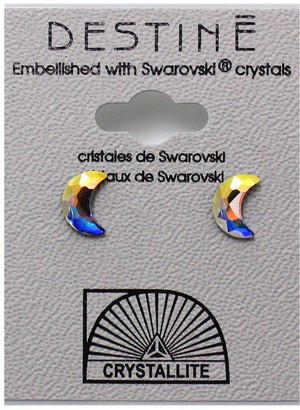 Crystallite Destine Earring AB Moon 8mm