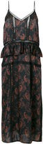 IRO paisley frill dress - women - Silk/Polyamide - 34