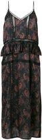 IRO paisley frill dress