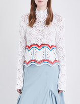 Peter Pilotto Striped high-neck knitted jumper