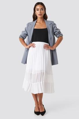 NA-KD Co-ord Pleated Panel Midi Skirt Black