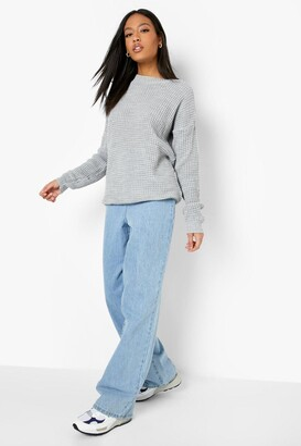 boohoo Tall Waffle Knit Sweater
