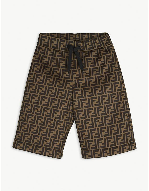 Fendi FF print shorts 8-14 years