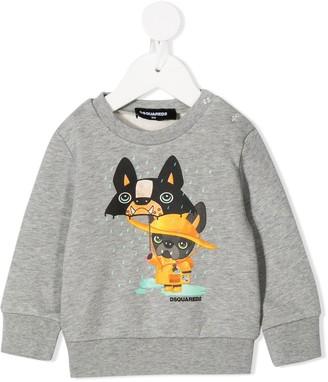 DSQUARED2 Cartoon Dog Print Sweatshirt