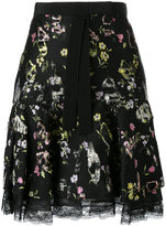 Giambattista Valli floral lace trim skirt - women - Silk/Cotton/Polyester/Viscose - 40