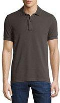 Tom Ford Tennis Pique Polo Shirt, Gray-Green