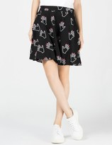 Lazy Oaf Black Hands off Circle Skirt