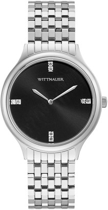Wittnauer Women's Classic Stainless Diamond Dial Watch