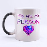 """Funny Quotes Mugs Charming Funny Quotes """"You are my person"""" Graphic Pattern Morphing Ceramic Material Mug"""