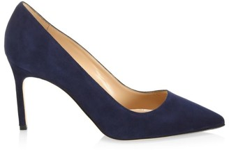 Manolo Blahnik BB 90 Suede Pumps