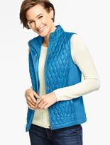 Talbots Quilted & Ribbed Vest