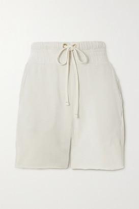 LES TIEN Cotton-jersey Shorts - Ivory