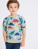 Marks and Spencer Dinosaur Print Sweatshirt (3 Months - 7 Years)