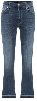 7 For All Mankind Cropped Boot Unrolled mid-rise jeans