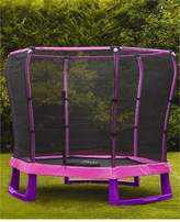 Plum 7ft Junior Trampoline And Enclosure - Pink/Purple