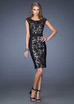 La Femme 19215 Embellished Lace Sheath Dress
