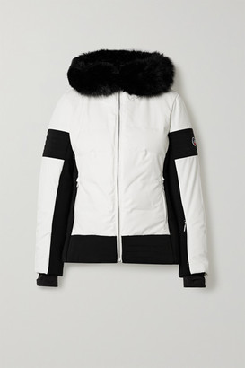 Fusalp Gardena Iii Hooded Faux Fur-trimmed Down Ski Jacket - White