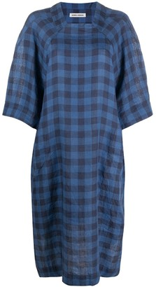 Henrik Vibskov Gingham-Check Linen Dress