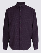 Marks and Spencer Luxury Soft Touch Paisley Print Shirt