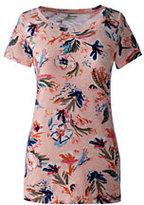 Classic Women's Petite Art T Shirt-Khaki Pebble Stripe