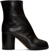Maison Margiela Black Leather Tabi Boots