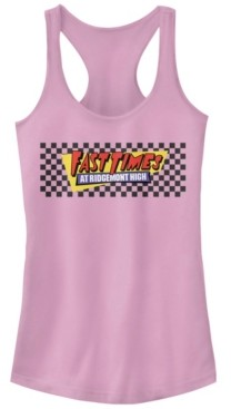 Fifth Sun Fast Times at Ridgemont High Checkers Logo Ideal Racer Back Tank