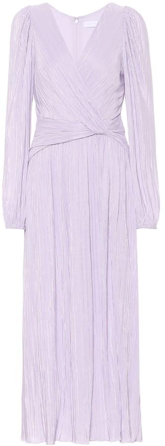 Jonathan Simkhai Gwynne plisse satin midi dress