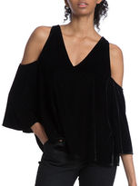 Plenty by Tracy Reese Cold Shoulder V-Neck Blouse