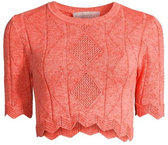Victor Glemaud Scalloped Crochet Top