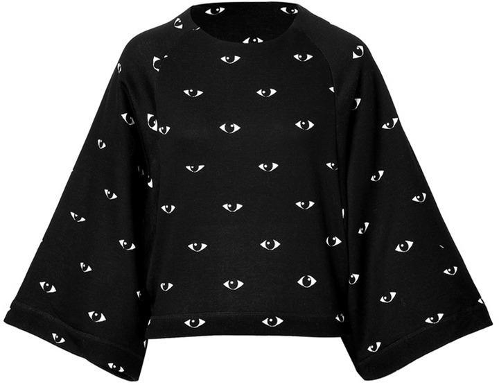 Kenzo Cotton Eye Print Sweatshirt