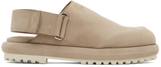 Jacquemus Taupe Nubuck Les Mules Shoes