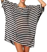 Yonala Women's Classic Striped Chiffon Beachwear Bikini Swimwear Beach Dress Cover Up