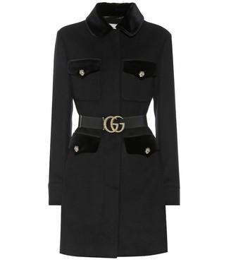 Gucci Embellished wool-blend coat