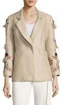 Josie Natori Multicolor Embroidered Jacket