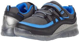 Stride Rite M2P Lighted Burst (Toddler) (Black/Blue) Boys Shoes