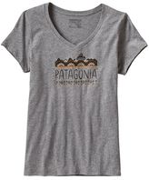 Patagonia Women's Femme Fitz Roy Cotton V-Neck T-Shirt