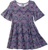Lucky Brand Bell Sleeve Peasant Dress (Little Girls)