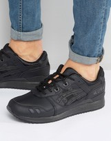 Asics Gel-lyte Iii Leather Trainers In Black Hl6a2 9090