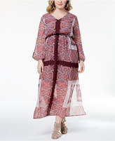 Monteau Trendy Plus Size Cutout-Sleeve Maxi Dress