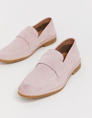 Selected penny loafer in pink