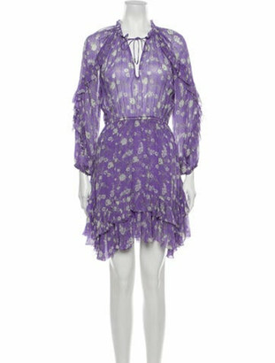 Ulla Johnson Silk Mini Dress Purple