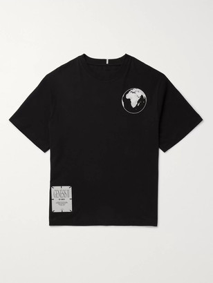 McQ Appliqued Printed Cotton-Jersey T-Shirt